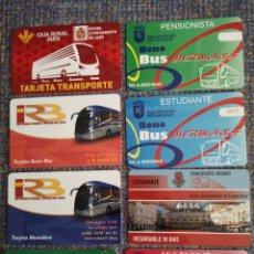Coleccionismo Billetes de transporte: 8 TARJETAS DE TRANSPORTES. Lote 194187141