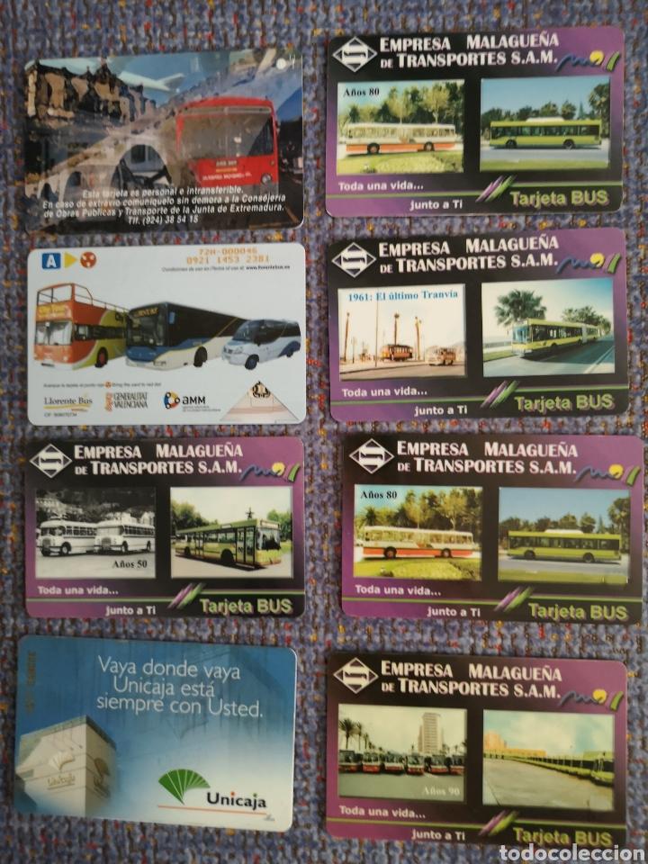 8 TARJETAS DE TRANSPORTES (Coleccionismo - Billetes de Transporte)
