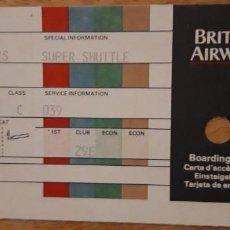 Coleccionismo Billetes de transporte: .1 BILLETE AVIÓN DE - ** BRITISH AIRWAYS . SUPER SHUTTLE** ORLANDO 10 ABR. .. Lote 194306222