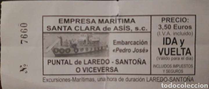 BILLETE BARCO LAREDO - SANTOÑA (Coleccionismo - Billetes de Transporte)