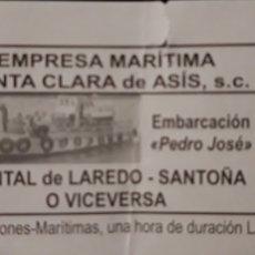 Coleccionismo Billetes de transporte: BILLETE BARCO LAREDO - SANTOÑA. Lote 194344137
