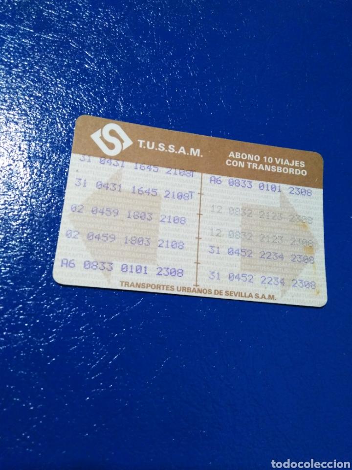 Coleccionismo Billetes de transporte: Lote de 7 tarjetas bonobus antiguas de tussam ( Ciudad de Sevilla capital ) - Foto 3 - 194355338