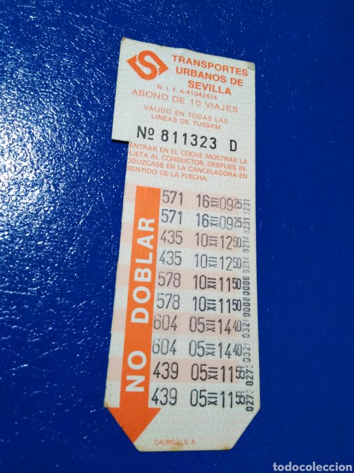 Coleccionismo Billetes de transporte: Lote de 7 tarjetas bonobus antiguas de tussam ( Ciudad de Sevilla capital ) - Foto 4 - 194355338