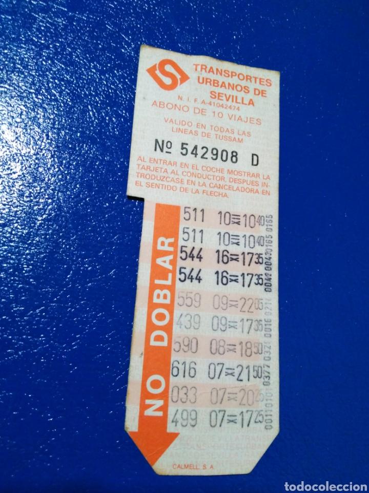 Coleccionismo Billetes de transporte: Lote de 7 tarjetas bonobus antiguas de tussam ( Ciudad de Sevilla capital ) - Foto 6 - 194355338