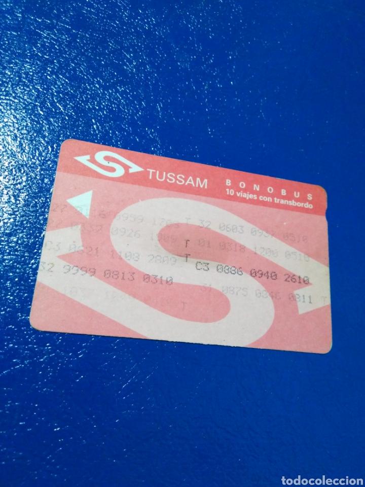 Coleccionismo Billetes de transporte: Lote de 7 tarjetas bonobus antiguas de tussam ( Ciudad de Sevilla capital ) - Foto 8 - 194355338
