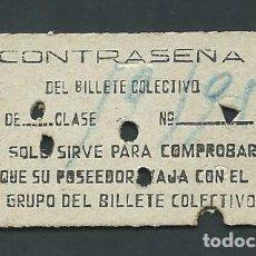 Coleccionismo Billetes de transporte: ANTIGUO BILLETE TICKET TREN COLECTIVO ZUMARRAGA AÑO 1956. Lote 194633996