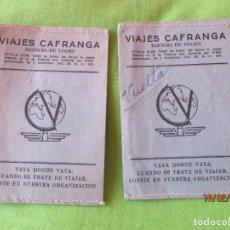 Coleccionismo Billetes de transporte: VIAJES CAFRANCA. AGENCIA DE VIAJES, PASEO COLON 58, TEL. 358. IRUN. CARPETAS BILLETES TRANSPORTE. Lote 194645638