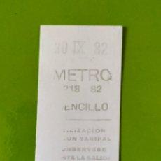 Coleccionismo Billetes de transporte: METROBUS 82 1982 METRO MADRID. Lote 194704457