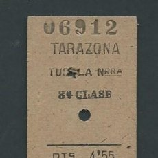 Coleccionismo Billetes de transporte: ANTIGUO BILLETE TICKET TREN TARAZONA - TUDELA AÑO 1944. Lote 194727181