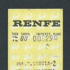 Coleccionismo Billetes de transporte: ANTIGUO BILLETE TICKET TREN BARCELONA - SEGUR DE CALAFELL AÑO 1970 RENFE. Lote 194729627
