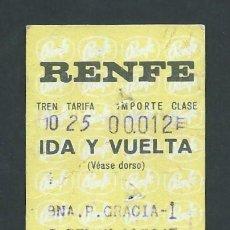 Coleccionismo Billetes de transporte: ANTIGUO BILLETE TICKET TREN BARCELONA - SANT FELIU DEL LLOBREGAT AÑO 1971 RENFE. Lote 194729755