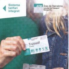 Coleccionismo Billetes de transporte: ESPAÑA - SPAIN - TÍTULOS DE TRANSPORTE INTEFRADO Y TARIFAS 2020. Lote 194729790