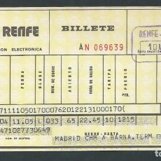 Coleccionismo Billetes de transporte: ANTIGUO BILLETE TICKET TREN MADRID - BARCELONA AÑO 1975 RENFE . Lote 194751702
