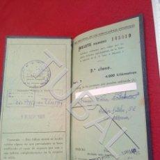 Coleccionismo Billetes de transporte: TUBAL RENFE KILOMETRICO 1961 U23. Lote 194763523