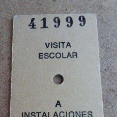 Coleccionismo Billetes de transporte: BILLETE EDMONSON - VISITA ESCOLAR A INSTALACIONES RENFE. Lote 194969686