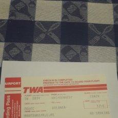 Coleccionismo Billetes de transporte: BILLETE DE AVION TWA-NUEVA YORK A ATLANTA. Lote 195039293