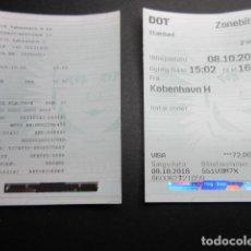 Coleccionismo Billetes de transporte: 2 BILLETES EMPRESA DSB COPENAGUE METRO Y TRANVIAS. Lote 195122621