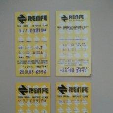 Coleccionismo Billetes de transporte: BILLETES DE RENFE CAPICUAS. Lote 195207067