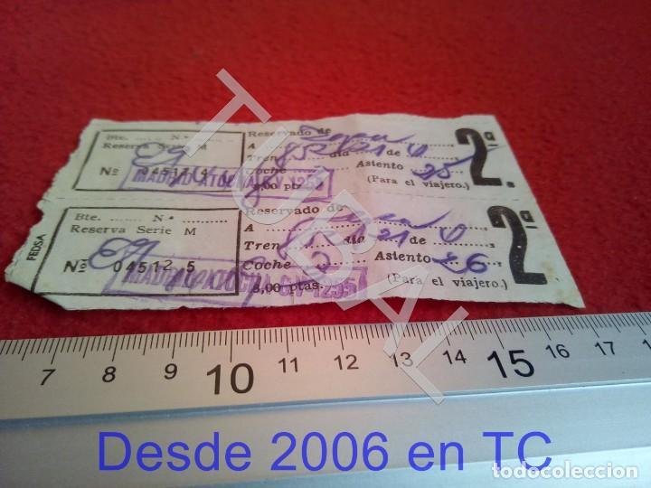 TUBAL ATOCHA RENFE TREN FERROCARRIL MADRID RESERVA B43 (Coleccionismo - Billetes de Transporte)