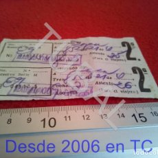 Coleccionismo Billetes de transporte: TUBAL ATOCHA RENFE TREN FERROCARRIL MADRID RESERVA B43. Lote 195326485