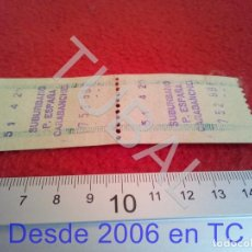 Coleccionismo Billetes de transporte: TUBAL CARABANCHEL RENFE TREN FERROCARRIL MADRID METRO B43. Lote 195326976