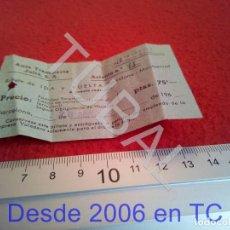 Coleccionismo Billetes de transporte: TUBAL BILLETE AUTO TRANSPORTE JULIÁ BARCELONA MONTSERRAT 1960 B43. Lote 195327270
