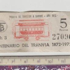 Coleccionismo Billetes de transporte: LOTE B-BILLETE CENTENARIO DEL TRANVIA FERROCARRIL BARCELONA. Lote 195405941