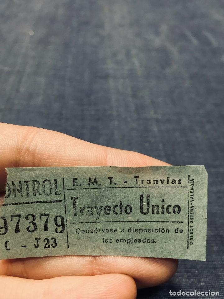 BILLETE TRANVIA EMT E. M. T. TRAYECTO UNICO MADRID (Coleccionismo - Billetes de Transporte)