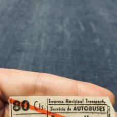 Coleccionismo Billetes de transporte: BILLETE AUTOBUSES EMT E. M. T. TRAYECTO UNICO MADRID. Lote 195456111