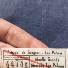 Coleccionismo Billetes de transporte: BILLETE AUTOBUSES GUAGUAS LAS PALMAS GRAN CANARIA CANARIAS MUELLE GRANDE MERCADO. Lote 195456380