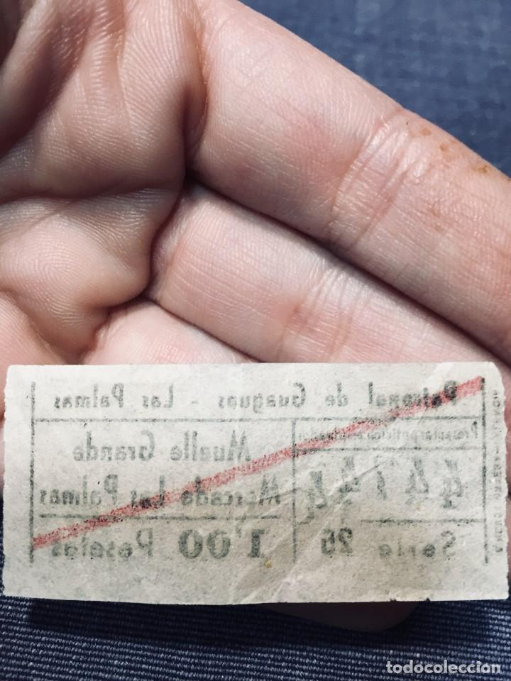 Coleccionismo Billetes de transporte: billete AUTOBUSES GUAGUAS LAS PALMAS GRAN CANARIA CANARIAS MUELLE GRANDE MERCADO - Foto 2 - 195456380