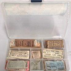 Coleccionismo Billetes de transporte: LOTE DE ANTIGUOS TÍQUETS DE TRANSPORTE PÚBLICO. Lote 196036771