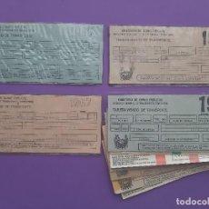 Coleccionismo Billetes de transporte: LOTE 10 TARJETAS VISADO TRANSPORTE 1966-67-68-70-73-74-76-79-80-81 MNISTERIO OBRAS PUBLICAS . Lote 196522761