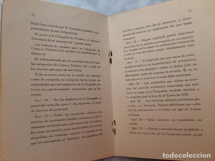 Coleccionismo Billetes de transporte: BARCELONA PRIMER REGLAMENTO DE LA C.G.A. DE BARCELONA RARO E INTERESANTE DOCUMENTO - Foto 6 - 196917088