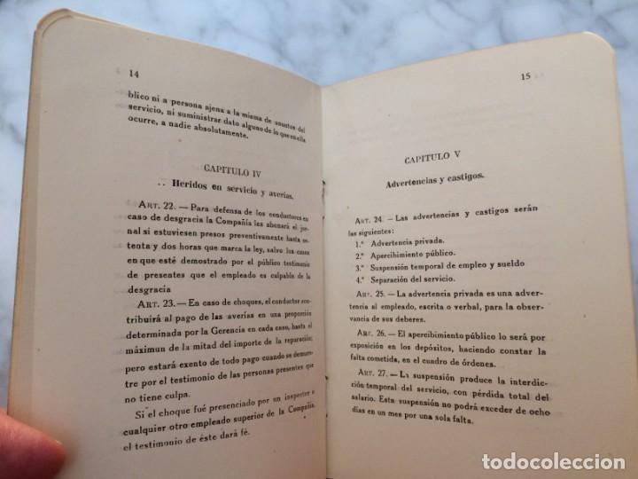 Coleccionismo Billetes de transporte: BARCELONA PRIMER REGLAMENTO DE LA C.G.A. DE BARCELONA RARO E INTERESANTE DOCUMENTO - Foto 7 - 196917088