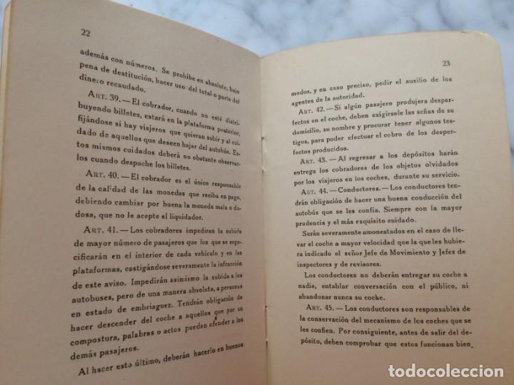 Coleccionismo Billetes de transporte: BARCELONA PRIMER REGLAMENTO DE LA C.G.A. DE BARCELONA RARO E INTERESANTE DOCUMENTO - Foto 8 - 196917088