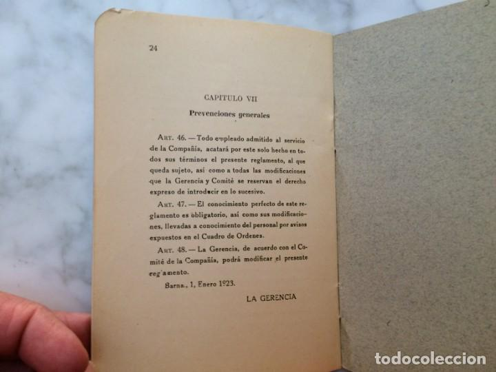 Coleccionismo Billetes de transporte: BARCELONA PRIMER REGLAMENTO DE LA C.G.A. DE BARCELONA RARO E INTERESANTE DOCUMENTO - Foto 9 - 196917088