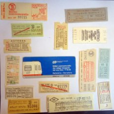 Coleccionismo Billetes de transporte: LOTE DE 15 ANTIGUOS BILLETES DE TRANSPORTE VARIADOS , VER FOTOS. Lote 197286911