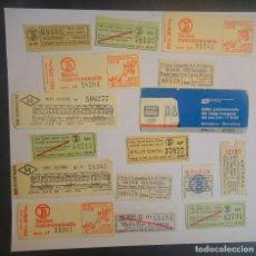 Coleccionismo Billetes de transporte: LOTE DE 16 ANTIGUOS BILLETES DE TRANSPORTE VARIADOS , VER FOTOS. Lote 197287151