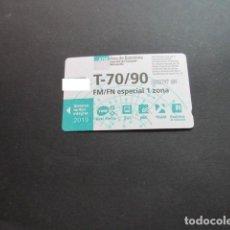 Collezionismo Biglietti di trasporto: TARJETA T-70/90 FM/FN ESPECIAL 1 ZONAS 2019. Lote 198348977
