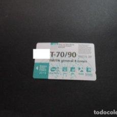 Collezionismo Biglietti di trasporto: TARJETA T-70/90 FM/FN GENERAL 4 ZONAS 2019. Lote 198349188