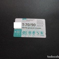 Collezionismo Biglietti di trasporto: TARJETA T-70/90 FM/FN GENERAL 2 ZONAS 2019. Lote 198349293