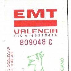 Coleccionismo Billetes de transporte: == B01 - TARJETA RESISTIVA EMPRESA EMT DE VALENCIA - COMIC VALENCIANO. Lote 198676420