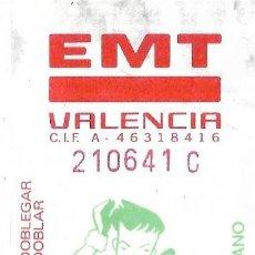 Coleccionismo Billetes de transporte: == B02 - TARJETA RESISTIVA EMPRESA EMT DE VALENCIA - COMIC VALENCIANO. Lote 198676483