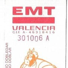 Coleccionismo Billetes de transporte: == B03 - TARJETA RESISTIVA EMPRESA EMT DE VALENCIA - COMIC VALENCIANO. Lote 198676506