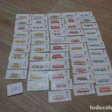 Coleccionismo Billetes de transporte: LOTE COLECCION DE 52 DISTINTOS BILLETE DE TRANVIA DE BARCELONA, SERIE CENTENARIO. Lote 198859186