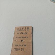 Collectionnisme Billets de transport: BILLETE TRANSPORTE 1968 CASTELLÓN ALMAZORA. Lote 198920825