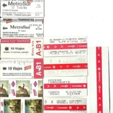 Coleccionismo Billetes de transporte: 11 BILLETES DIFERENTES DE TRANSPORTES COMUNIDAD MADRID. Lote 199246676