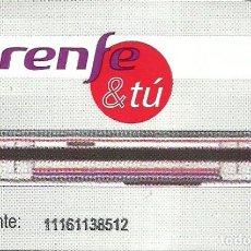 Coleccionismo Billetes de transporte: TARJETA DE CONTACTO PARA LOS TORNIQUETES DE CERCANIAS RENFE DE MADRID. Lote 199246860