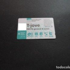 Collezionismo Biglietti di trasporto: TARJETA T-JOVE FM/FN GENERAL 4 ZONAS 2019. Lote 199369268